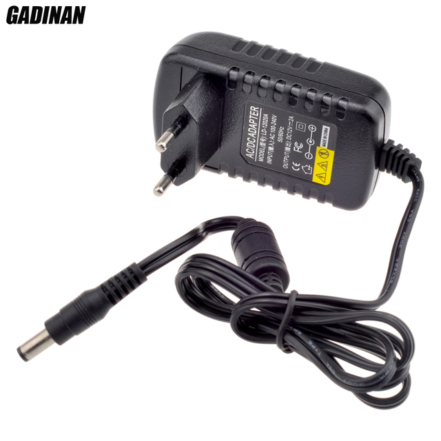 Gadinan 12V 2A AC 100V 240V Converter Adapter DC 12V 2A 2000mA Power Supply EU UK AU US Plug 5.5mm x 2.1mm for CCTV IP Camera