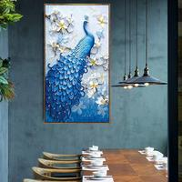 Peacock Pattern Full Round Diamond Embroidery Painting Wall Decoration