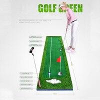 CRESTGOLF Indoor Esteiras De Golfe Putting Green de Golfe Golf Training Aids Prática Verde com tamanho 0.5X3 m e 0.75X3 m para a escolha
