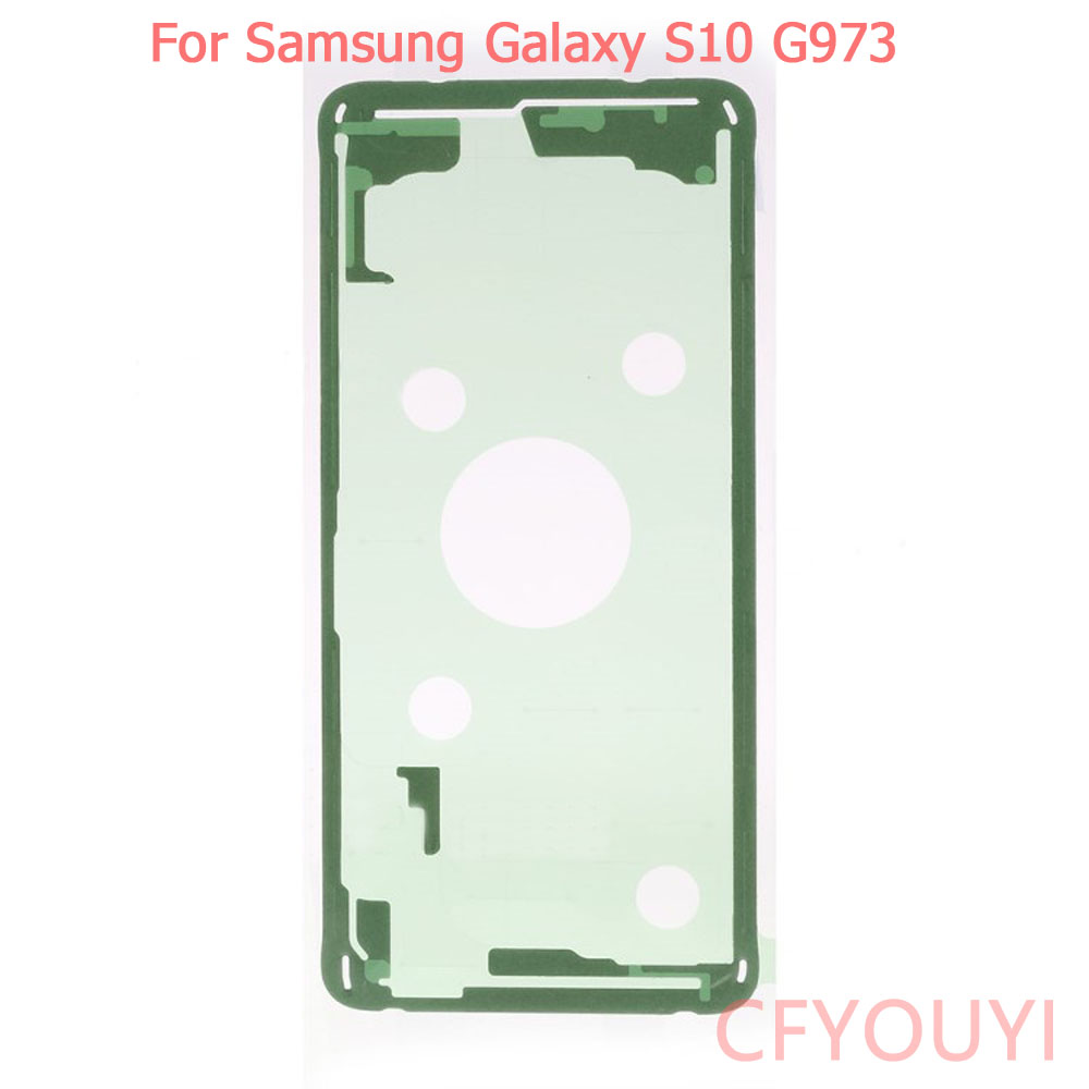 1~5pcs For Samsung Galaxy <font><b>S10</b></font> G973 Battery Back Door Cover Housing Adhesive <font><b>Sticker</b></font> Glue image