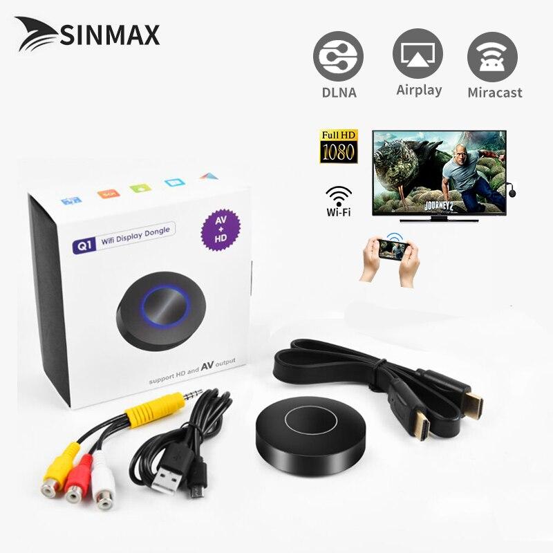 2018 HD+AV output Q1 VS Chromecast 2 HDMI TV Stick RK3036 dual core 1080P Miracast DLNA Airplay Wifi display dongle cromecast G2