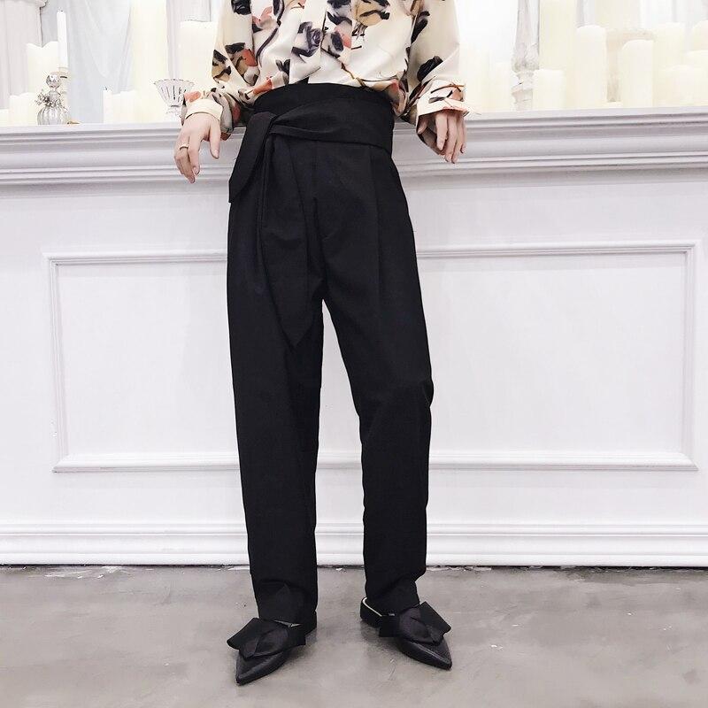 MRDONOO Chinesischen wind bettwäsche männlichen lose große yards karpfen stickerei leinenhose retro Chinesischen stil anzug