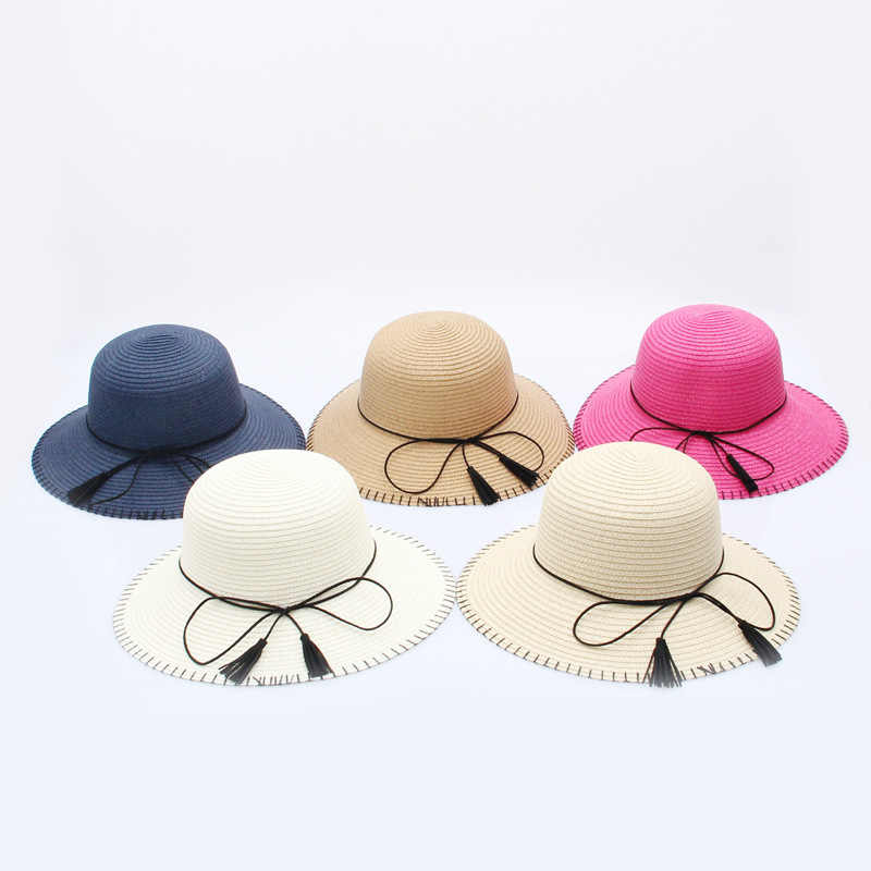 43f893a8 Woman Sun panama visor Hat women You Dome Sun Hat Suture The Sun ladies  Straw hats