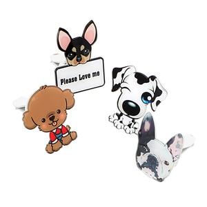 Image 5 - Auto Outlet Parfum Schattige Puppy Hond Automobiles Luchtverfrisser Auto Ornament Effen Geur Airconditioner Outlet Clip Auto Decor