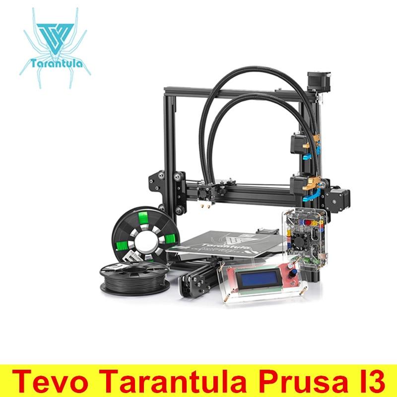 Newest Tevo Tarantula Prusa I3 Aluminum 3D Printer DIY Kit With 8GB SD Card Large Build Bed Extrusion Printing 2 Rolls Filament