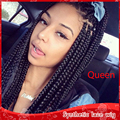 Best Quality Cheap Braiding Hair Synthetic Lace Front Wigs with baby hair Heat Resistant Micro Hot Braided Wigs for Black women