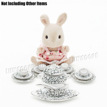 Odoria Miniature Porcelain Tableware Plum Blossom Tea Cup Set Kitchenware