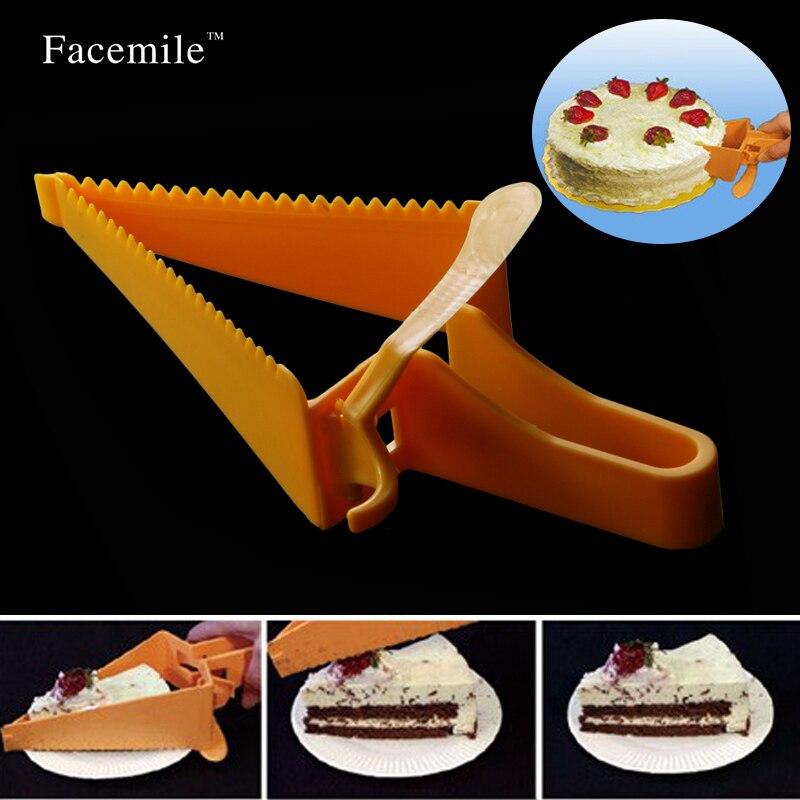 Pastel máquina de Cortar Del Cortador Pan Servidor Cuchillo Slice Cocina Gadget