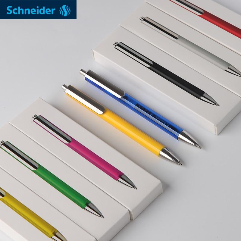 1 pces schneider evo caneta neutra estudante diario escritorio push and move caneta pode mudar 39