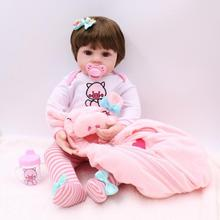 48cm Vinyl Simulation Reborn Baby Doll with Hoodies Clothes Kids Realistic Lifelike Baby Doll Toy Girls Realista Playmate Gifts