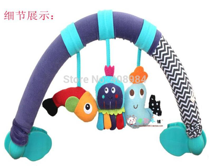 multifunction Baby Plush mobile toys baby bed stroller car Seat clip