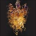 Мини Размер художественная стеклянная люстра освещение Светодиодная лампа Современная выдувная Подвесная лампа