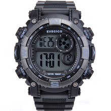 Luminous alarm clock led sports multifunctional large dial waterproof watches for child the trend of mens