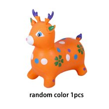 Jumping Horse Riding Animal Toys Kids Bouncy Hopper Inflatable Bouncer Baby Play Outdoor/Indoor Hand Pump