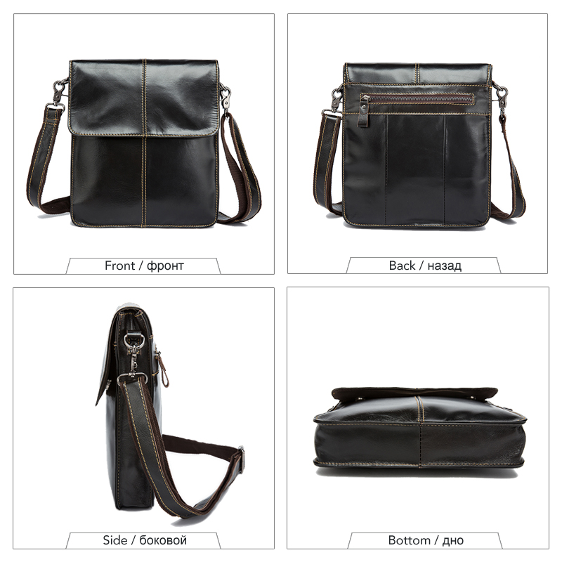 Image 2 - WESTAL Messenger Bag Men's Shoulder bags Genuine Leather Small flap male man Crossbody bag for Messenger men Leather bags 8821-in Crossbody Bags from Luggage & Bags