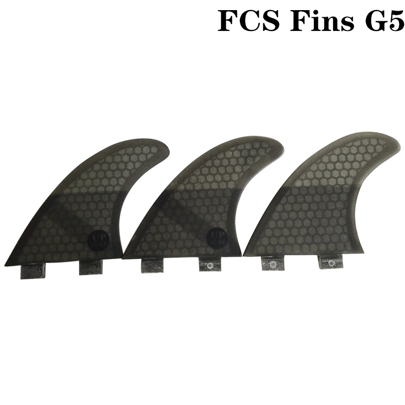 FCS G5 Quilhas Fins FCS Fins Surfboard Fin Honeycomb Fibreglass Fins 4 color in Surfing from Sports Entertainment