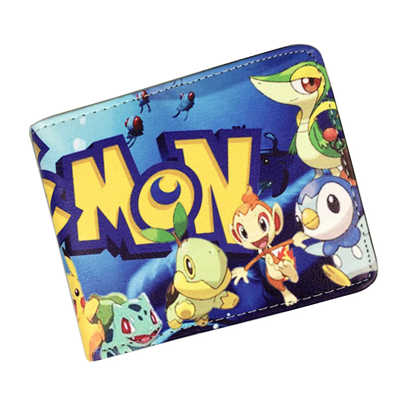Pokemon go Pikachu Wallet Poket Monster Purse Creative Gift Teenager Dollar Bags Cartoon Anime Short Wallet pokemon go print purse anime cartoon pikachu wallet pocket monster johnny turtle ibrahimovic zero pen pencil bag leather wallets