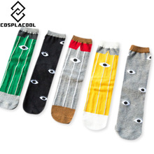 Skateboard Cotton Socks COOL Eye-Pattern Breathable Summer And Personality