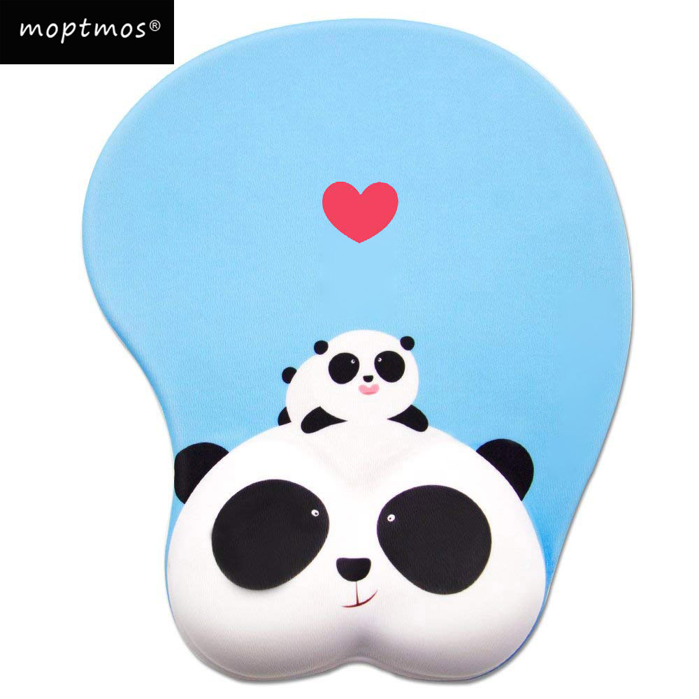 Anime Panda 3D Mouse Pad Ergonomic Soft Silicon Gel Gaming Mousepad with Wrist Support Animal Mouse Mat For PC Mac mouse