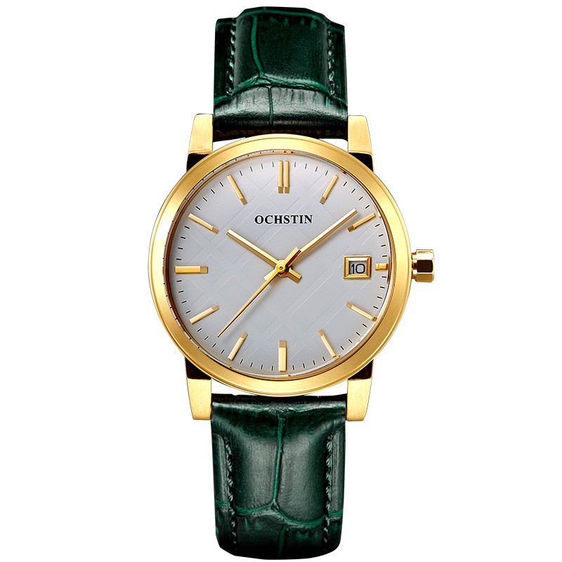 ФОТО OchsTin Watches Women Fashion Watch Gold Water Resistant Calendar Leather Watch For Ladies Watches Of Switzerland Orologi Donna