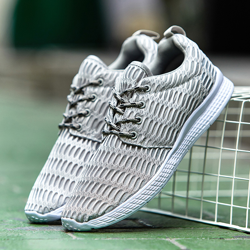 Hot Sale Brand design Plus size 47 Fashion Men Casual shoes Summer 2017 New Breathable Mesh trainers Men shoes top quality