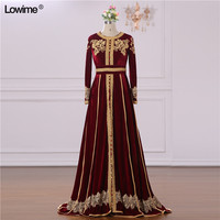 2018 New Arrival Actual Image A line Scoop vestido de festa Long Sleeves Appliques Lace Beading Evening Prom Dress Long