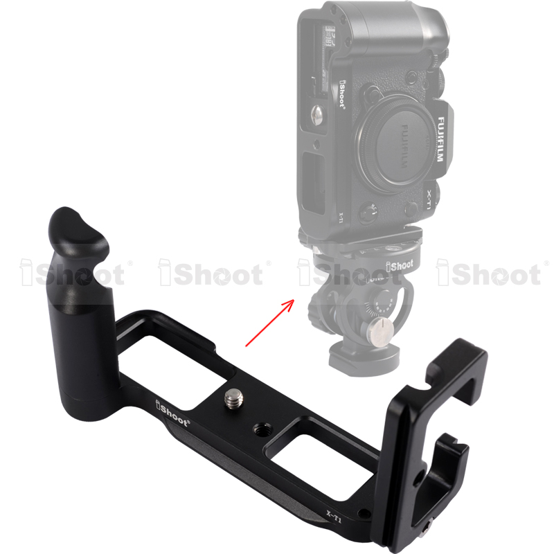 Metal L-shaped Vertical Shoot Quick Release Plate/Camera Holder Bracket Grip for Fujifilm Fuji X T1 Tripod Ball Head