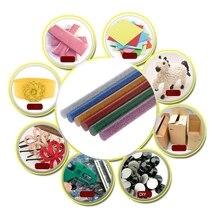 6 шт. термоплавкий клей-карандаш смешанный цветной блеск 7 мм для DIY ремесленных игрушек Инструменты для ремонта