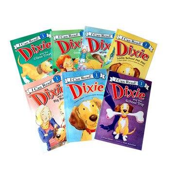 7 книг/набор My First I Can Read Dixie Dog Kids, Классическая английская раскраска, раскраска, Детские истории, книга для чтения
