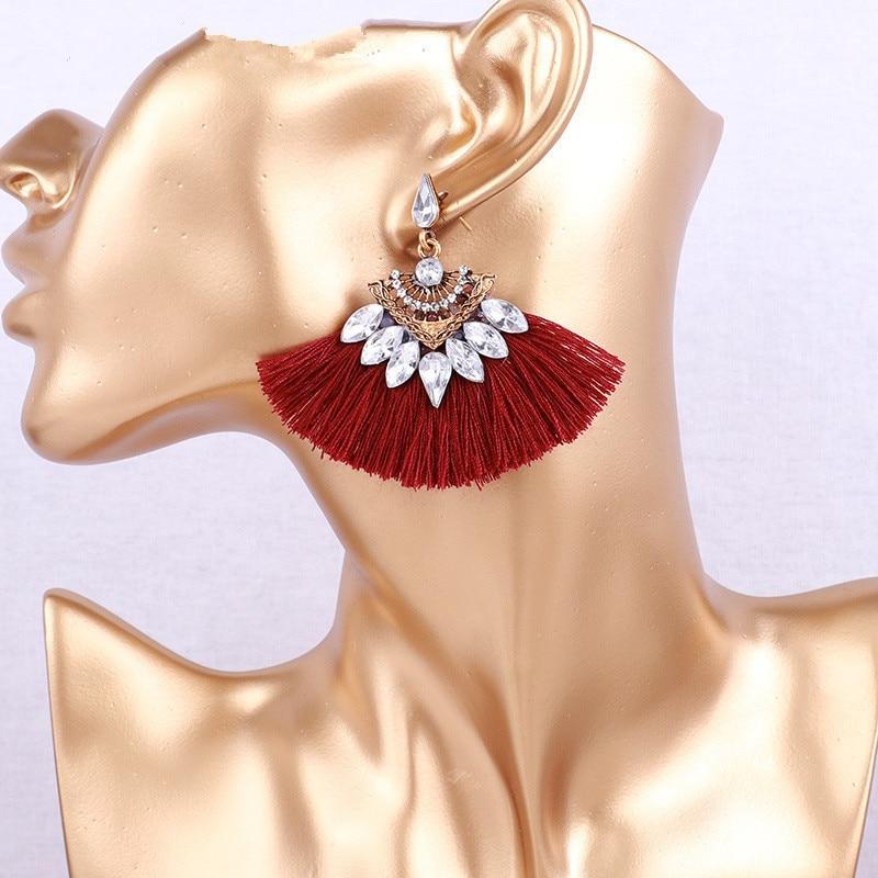 Long Fashion Blogger Statement Acrylic Geometric Teardrop Earrings Colour Choice