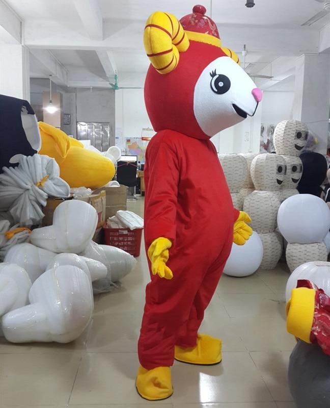 Le mouton mascotte Costume chinois nouvel an agneau chèvre mascotte Costumes fantaisie robe tenue Halloween Cosplay Costume - 2