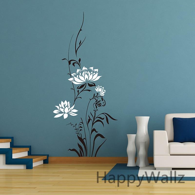 Lotus Flower Wall Sticker Beautiful Lotus Flower Wall ...