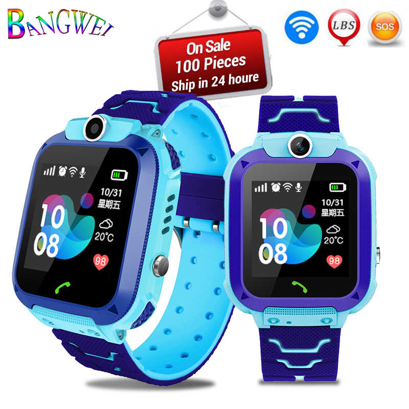 2019New BANGWEI Children Smart Watch LED Color Screen Music Player Bluetooth Connection Support 2G SIM Card Call Digital Watches