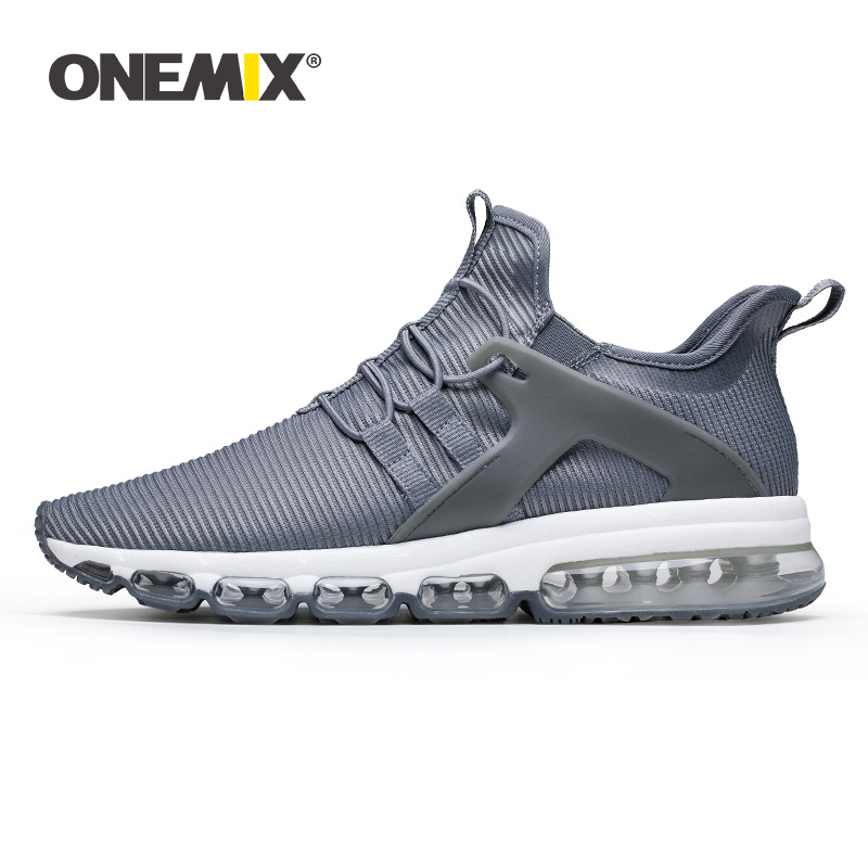 ONEMIX 2019 Shoes Men Sneakers Summer New Lightweight Soft Knitted Mesh Casual Loafers Cushion Running Jogging Flats Plus Size
