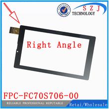 Nowy 7 #8221 cal prostokątne dotykowy ekran digitizer Tablet FPC-FC70S706-00 FPC-FC70S706-01 panel dotykowy czujnik szkło darmowa wysyłka tanie tanio NONE Panel dotykowy tablet CN (pochodzenie) 7 ~ 10 cal Pojemnościowy ekran Uniwersalny