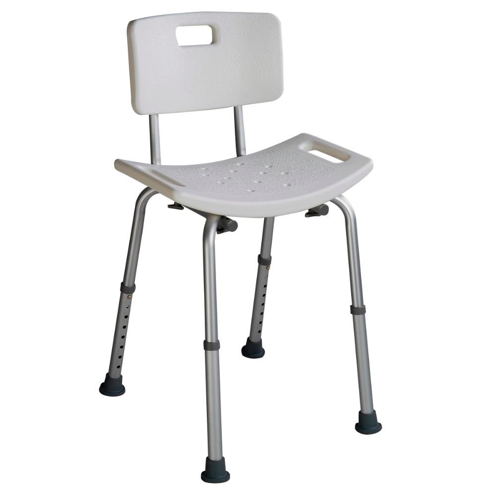 asiento para ducha Bano taburete Silla ajustable la altura 69-86 cm BA6930 la silla de pedro