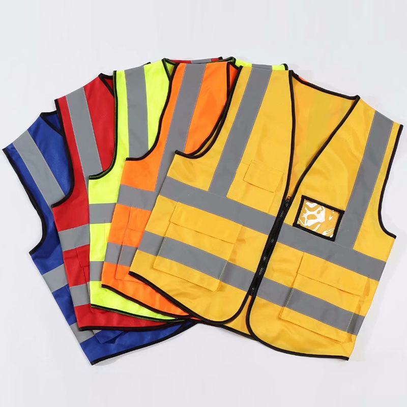 Spot Security Pockets Reflective Vest Duo Dou Reflective Clothing Road Traffic On Duty Take-out Reflective Vest