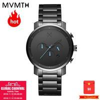 Часы MVMT Официальные уполномоченные оригинальные модные мужские часы Европейский и американский стиль моды с натуральным кожаным поясом во