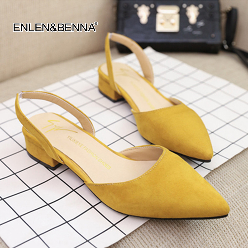 bd113f562fea02 women Sandals flat slingback sandals piont toe suede quality flats women  Summer shoes 39 office casual sandals new fashion 2018