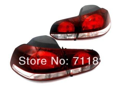 Запас Вишнево-Красный хвост свет для VW Гольф mk6