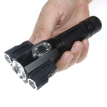 Professional Riding Light XML-T6+2Q5 Led Powerful Flashlight With Magnet Adjustable Switch Wall Lights Bike Cycling Torch 18650