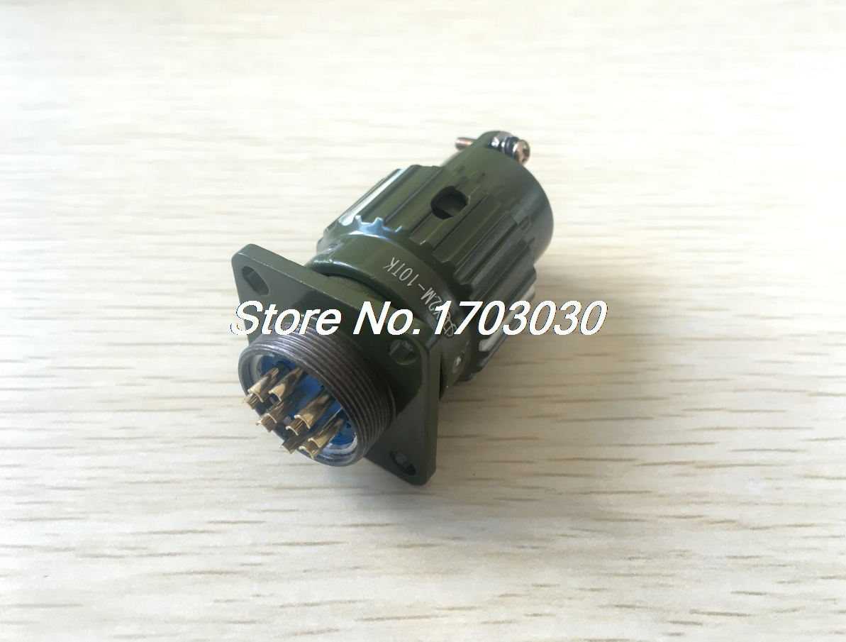 Army Green Twist Gold Plated 10 Pins Circular Connector cougar 530m army green