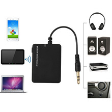 OOTDTY Wireless Bluetooth 3.5mm Stereo Audio Home Car Receiver Adapter for Mp3/4 TV PC