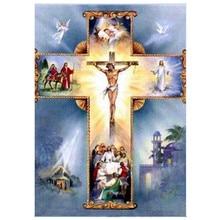 New diamond painting religious cross embroidery stitch parts rhinestone home decoration