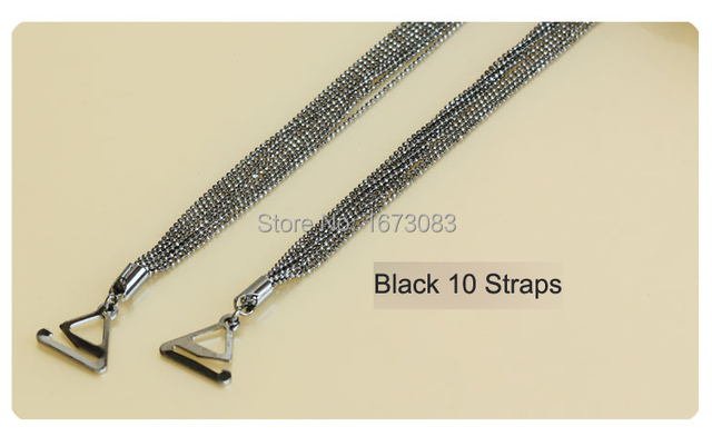 Women Metal Chain Rhinestone Bra Strap