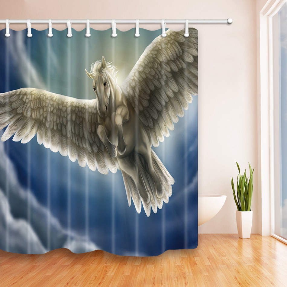 Modern bathroom curtains - Eco Friendly Unique Eagle Shower Curtain 100 Polyester Modern Bathroom Decor Waterproof Bath Curtain
