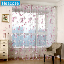 CUTE Children bear Pattern curtain Cartoon Animal Printed tulle for window living room kids bedroom decor cortinas home textile