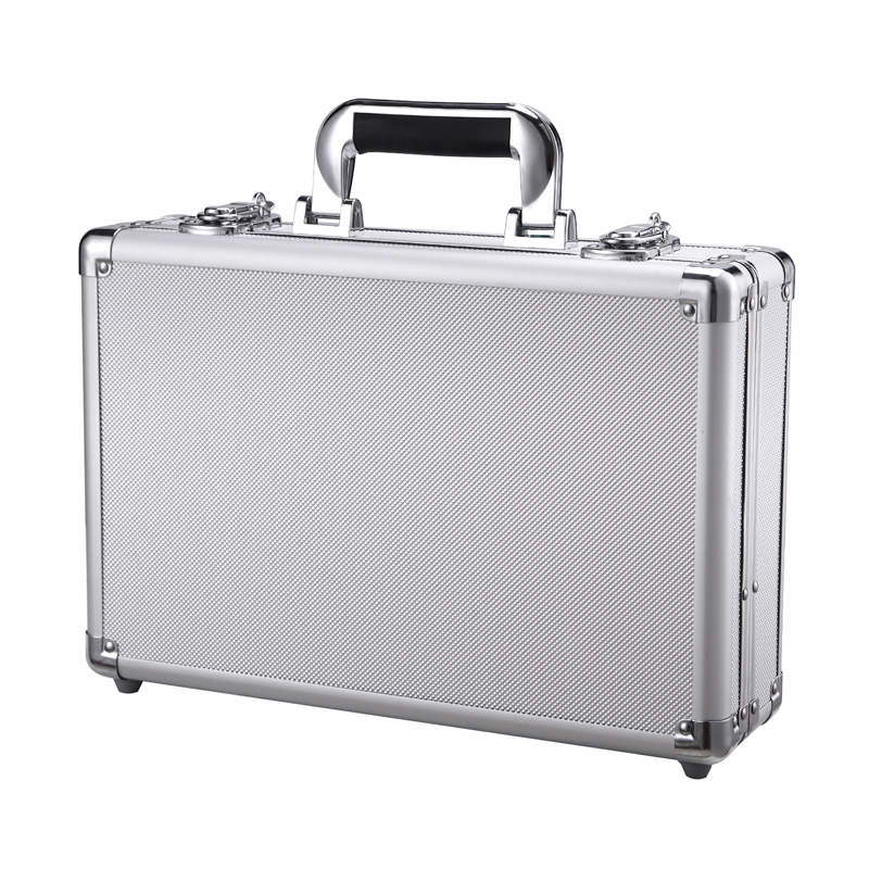 Aluminium Tool Case With Lock Key Portable Carrier Container Pilot Style Flight Case 36*24*9.5cm