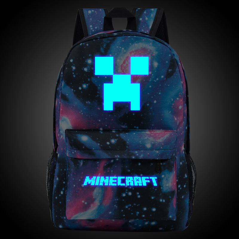 5924f8288c 2018 Minecraft Backpacks Canvas Bts High Quality Backpack Children School  Boys and Girls Back To School Glowing Bags-in Backpacks from Luggage   Bags  on ...