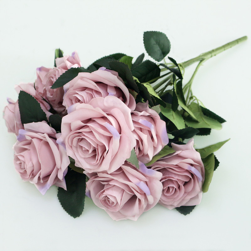 Artificial Silk 1 Bunch French Rose Artificial Flower For Wedding And Party Accessory 21